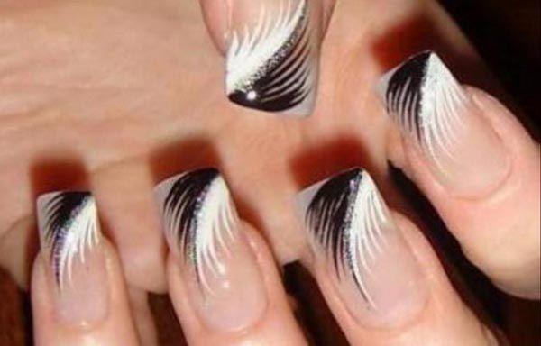 diseños acrilicos plumas