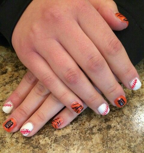 Tiger opening day nails by Ashley