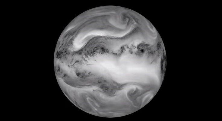 El planeta Tierra bañado por luz infrarroja