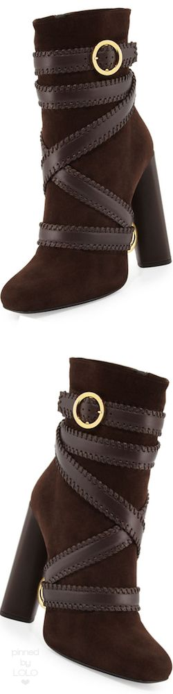 TOM FORD Belted Suede Ankle Boot | LOLO
