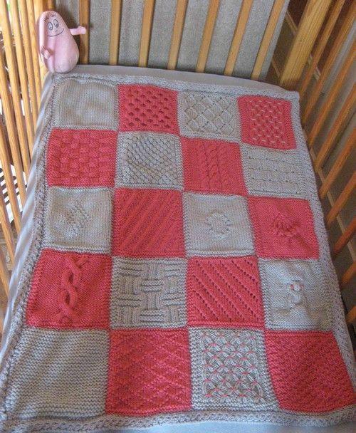 Les 25 meilleures id es de la cat gorie couvertures tricot es sur pinterest tricoter des - Apprendre a tricoter debutant ...