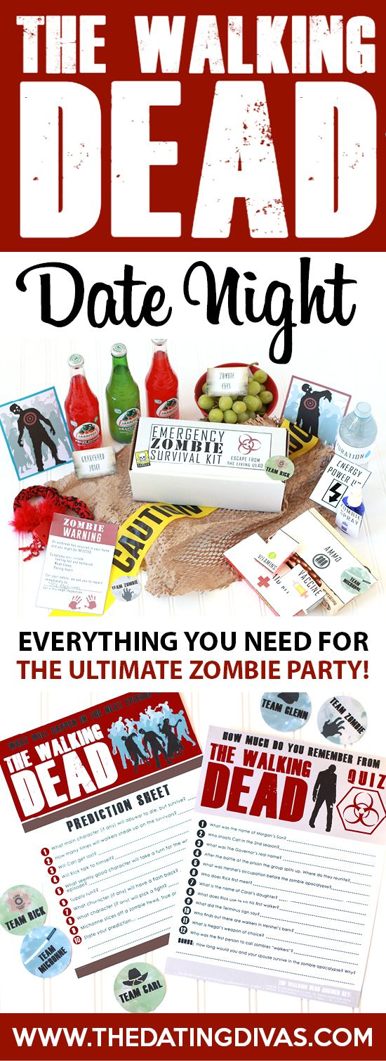 The Walking Dead Date Night- everything you need for the ultimate zombie party!!!