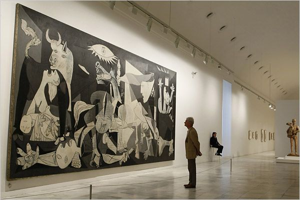 "Pablo's Picasso's ""Guernica"" at the Reina Sofia Museum in Madrid, Spain"