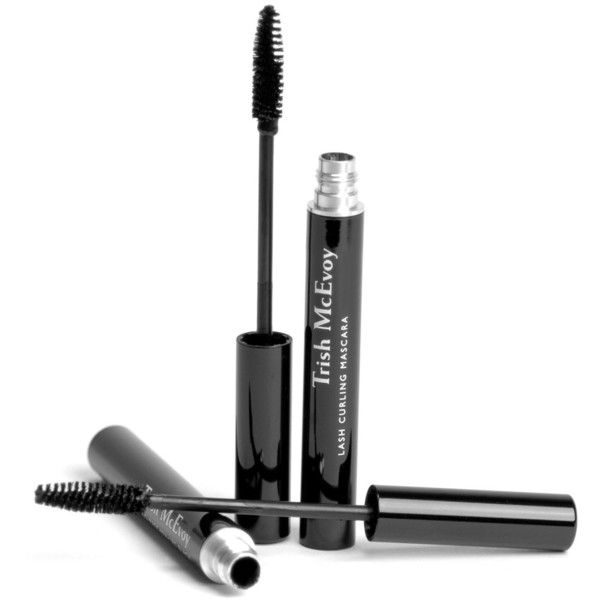 Trish McEvoy Lash Curling Mascara ($32) ❤ liked on Polyvore featuring beauty products, makeup, eye makeup, mascara, beauty, cosmetics, extra, black, filler and curling mascara