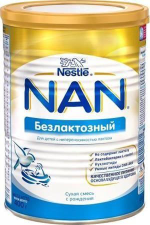 Смесь Nestle Nan безлактозный с рождения  — 791р. -------------- Детская смесь NAN безлактозный предназначена для питания младенцев, детей младшего и старшего возраста, а также взрослых в тех случаях, когда следует избегать употребления в пищу продуктов, содержащих лактозу. Непереносимость лактозы, как правило, вызывает диарею. Детская смесь содержит все витамины и минеральные вещества, считающиеся необходимыми для нормального развития ребенка. Качество детской смеси гарантируется фирмой…