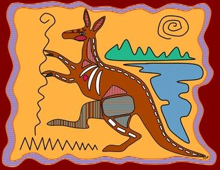 australlian art for kids - free coloring pages