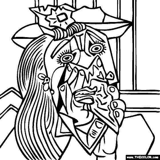 25 best ideas about picasso famous paintings on pinterest - Artwork Coloring Pages