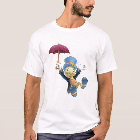 Jiminy Cricket with His Umbrella Disney T-Shirt - click to get yours right now!