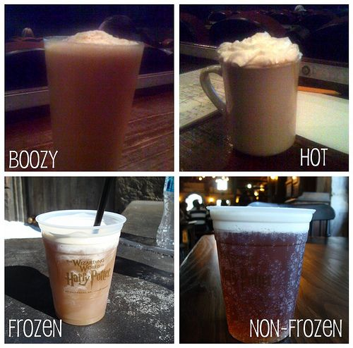 Butterbeer like the one at Universal Studios?  Must try to kid's bday... 1 liter cream soda, 1 cup heavy cream  & butterscotch sauce to taste -frapped