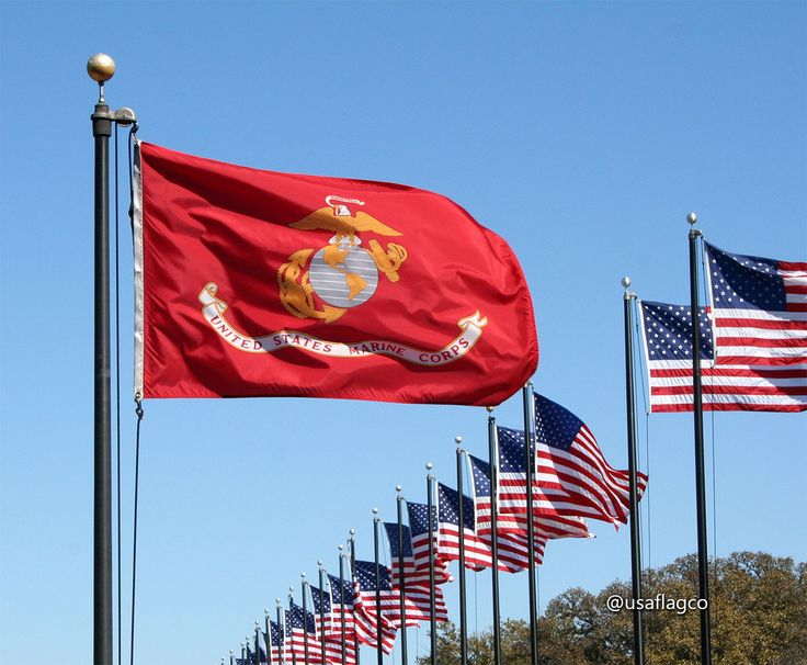 This beautiful Marine Corps Flag makes a perfect gift for your USMC loved ones, friends or PROUDLY display on your home or office! | https://www.usaflagco.com/products/marine-corps-flag