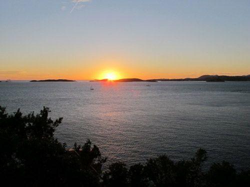 Sunset off of Waterklip's deck