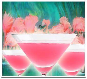Flamingo  1½ oz. White Rum  1½ oz Pineapple Juice  ¼ oz. Fresh Lime Juice  ¼ oz. Grenadine  Ice