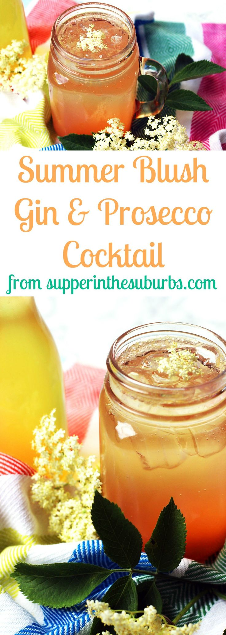 Summer Blush a Gin and Prosecco Cocktail
