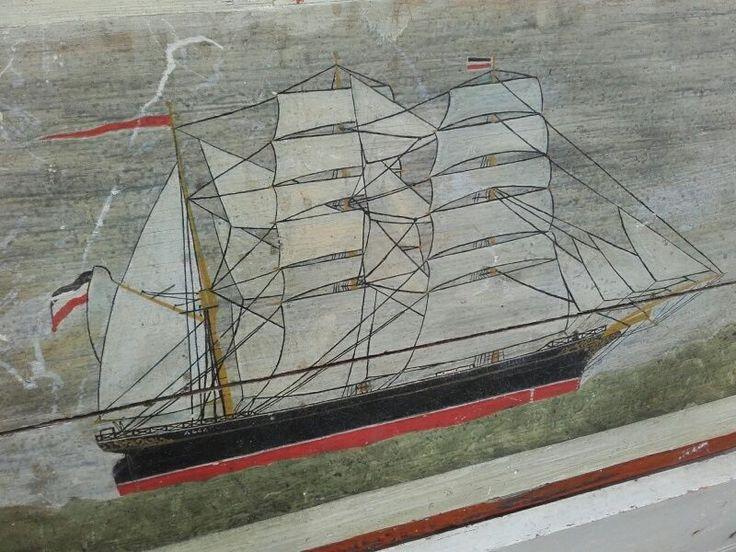 Maritim Seefahrer Truhe Matrosenkiste Matrose Seefahrt sailors chest 19.Jhdt. | eBay