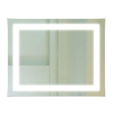Backlit Rectangular Bathroom Mirror with Border