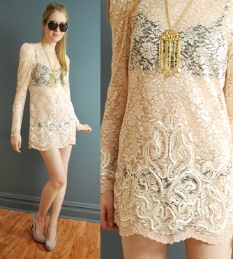 Vintage sheer lace mini dress by Sleepyhead VintageMinis Dresses, Lace Minis, Minis Dog Qu, Mini Dresses, Saia Mini-Sequins