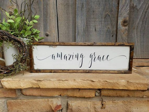 Check out this item in my Etsy shop https://www.etsy.com/listing/270960020/framed-amazing-grace-signwooden-amazing
