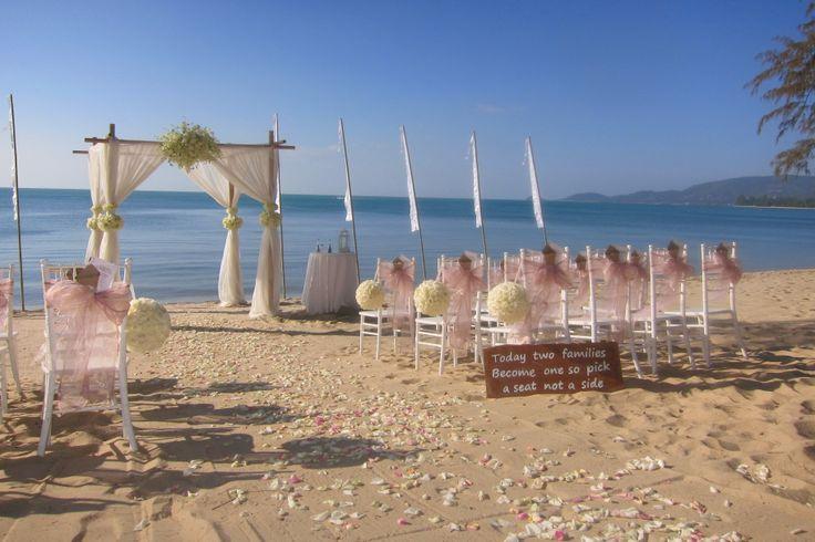 Thai wedding beach setup. simplistic beach beauty