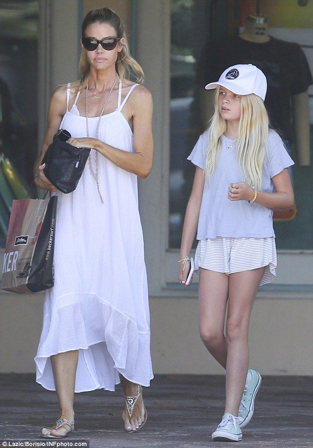 Mother-daughter day: Denise Richards spent quality time with her daughter Lola, 11, in Malibu on Sunday