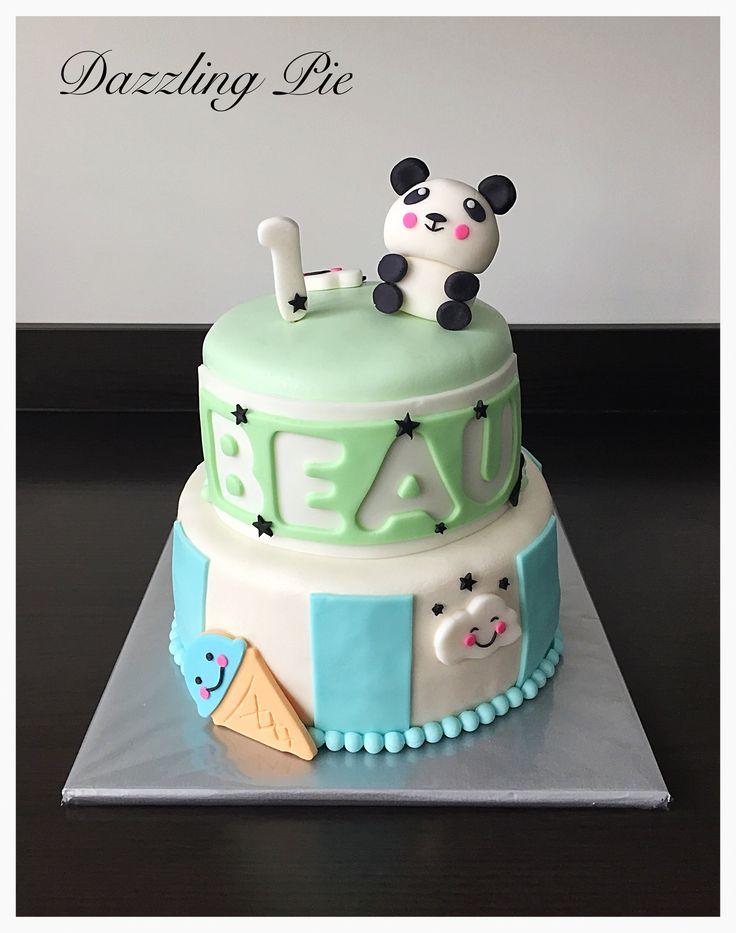 Panda birthday cake made by Dazzling Pie