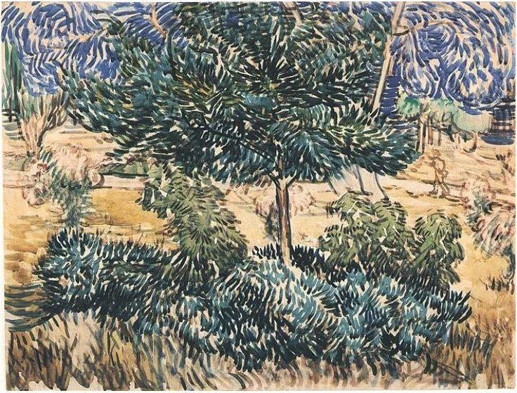 Vincent van Gogh Watercolor, Black chalk, pencil, pen, brown ink, watercolour Saint-Rémy: May, 1889 Van Gogh Museum Amsterdam, The Netherlands, Europe F: 1533, JH: 1710