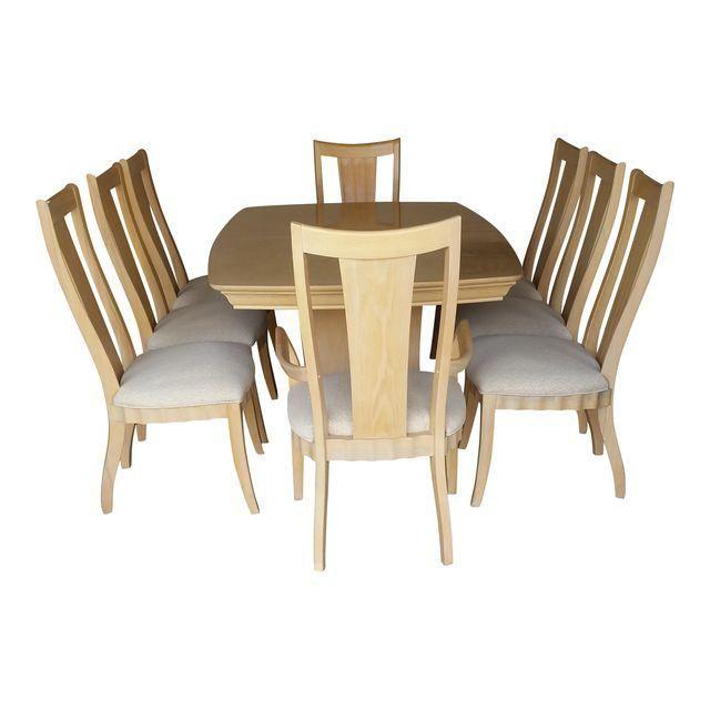 Thomasville Stone Terrace Dinning Set Dinning Set Upholstered