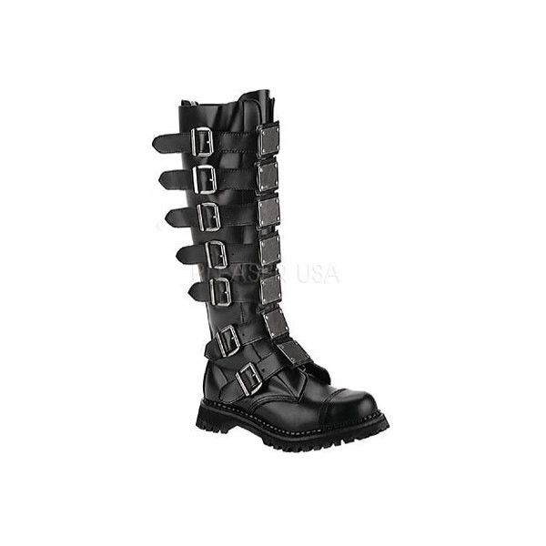 Men's Demonia Reaper 30 (1.335 NOK) ❤ liked on Polyvore featuring men's fashion, men's shoes, black, casual, casual shoes, mens goth shoes, mens shoes, mens leather shoes, mens safety toe shoes and mens black leather shoes