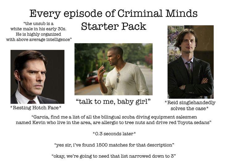 Every episode of criminal minds starter pack r