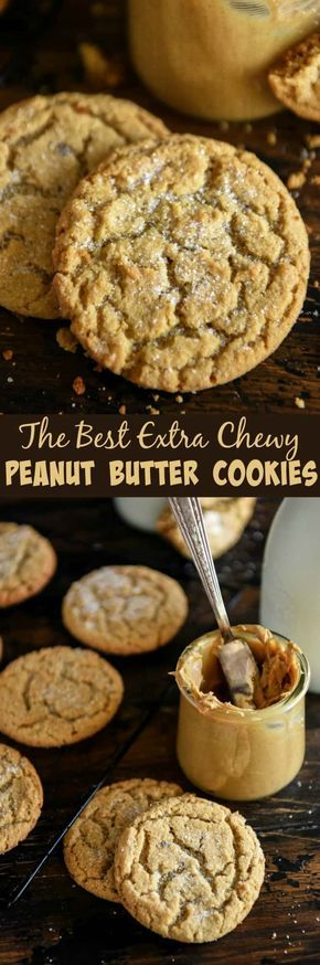 The Best Chewy Peanut Butter Cookies with super soft centers in just 30 minutes!