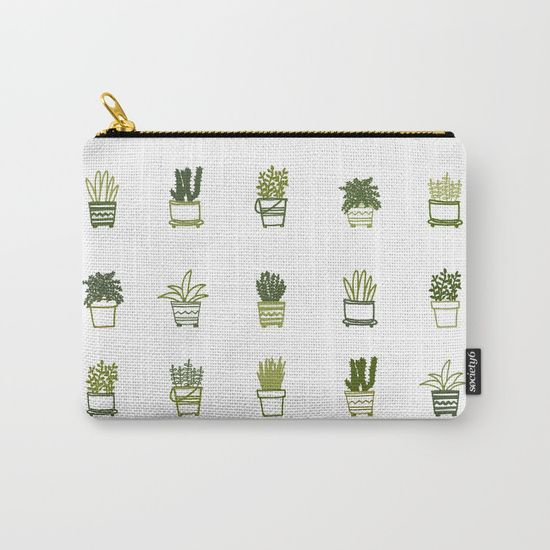 Little Green Plants Carry-All Pouch by Luisa Méndez | Society6