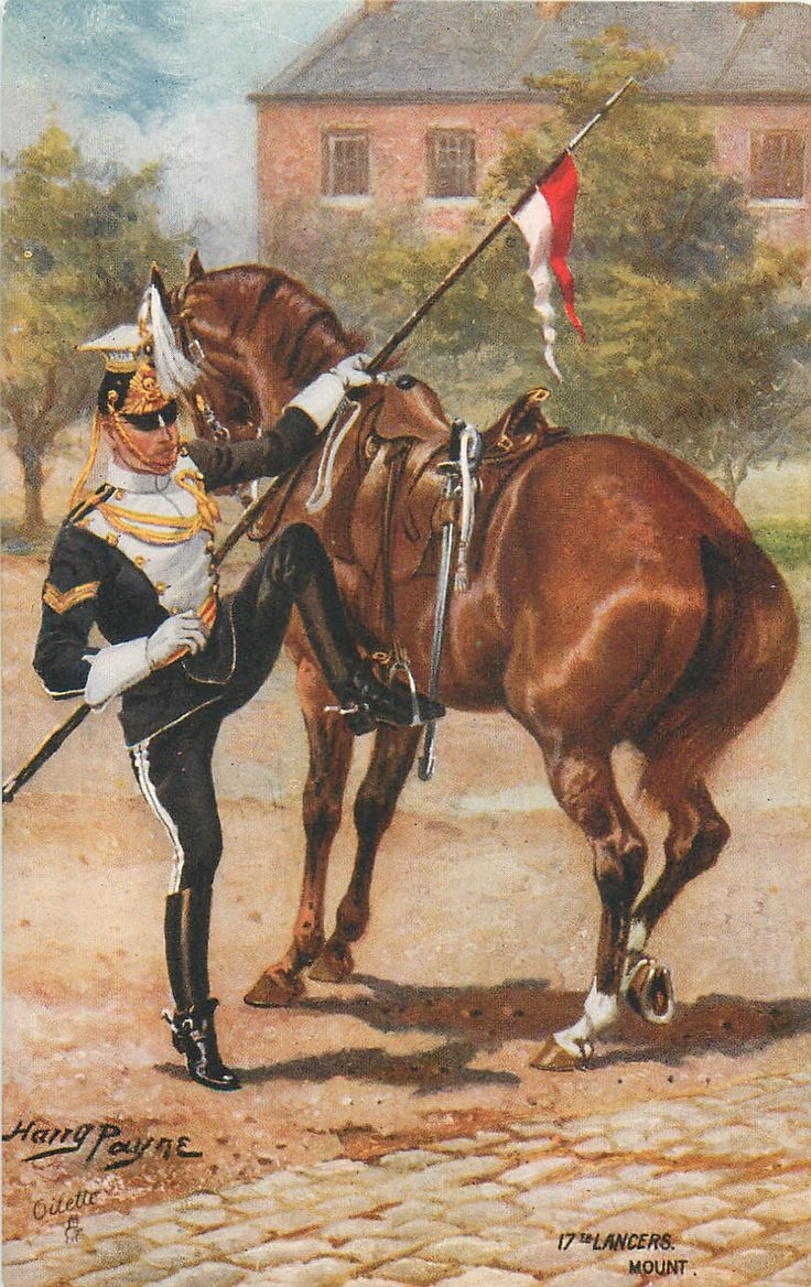 British; 17th (The Duke of Cambridge's Own) Lancers. Mount, c.1914 by H.Payne