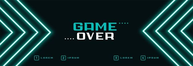 Download Digital Neon Game Over Banner for free in 2020 ...