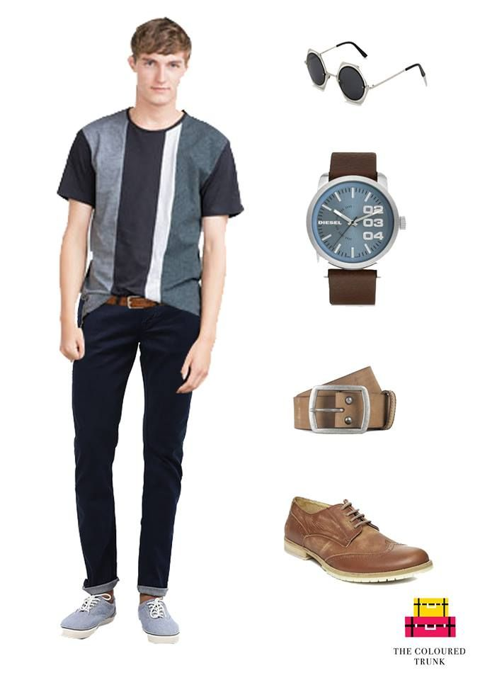 An ideal evening look for a casual outing! tshirt: #ZARA jeans: #