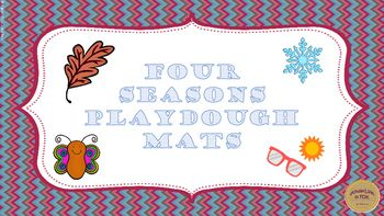 Four sets of playdough mats from 1 to 10 one for each season!Includes:Fall (1-10)Winter (1-10)Spring (1-10)Summer (1-10)Each card includes a ten frame, a large number, and pictures indicating how many that number is.This can be a child led or a teacher led activity.