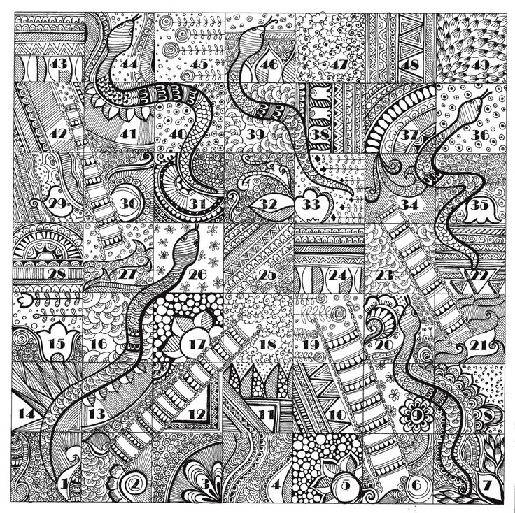 Quot Snakes And Ladder Quot For Zentangle Series Doodle