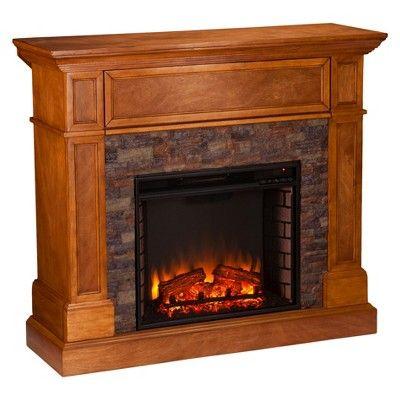 roseshire corner infrared electric media fireplace sienna aiden lane
