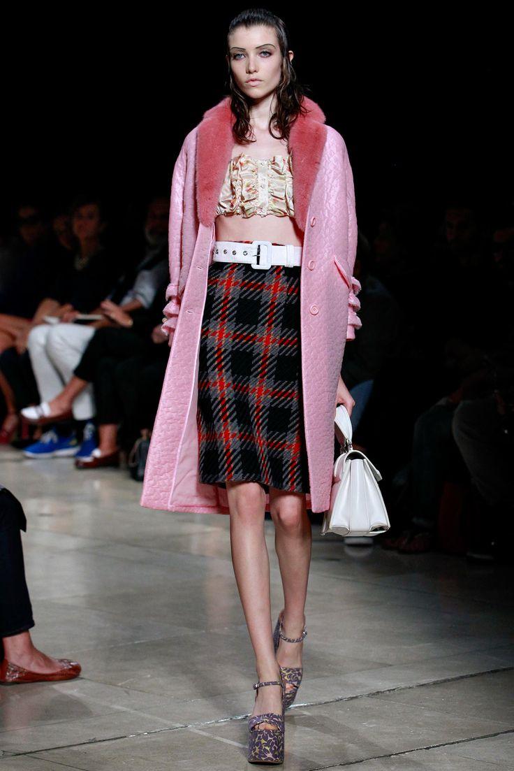 Spring 2015 Ready-to-Wear - Miu Miu - pink coat!