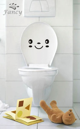 cute idea for the kids bathroom... wonder if guests would enjoy it too? lol: Kids House Daycare, Bathroom Ideals, Kid Ideas Stuff, House Kids, Cute Ideas, Bathroom Coolness, Bathroom Ideas, Kid Bathrooms