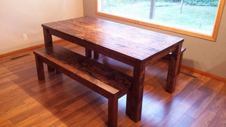 Look at this beautiful table and benches. Rustic, yet modern. Modern Country Concepts.