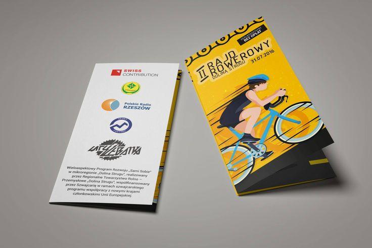 #Ulotka - jedna z materiałów promujących II #Rajd #Rowerowy Doliny Strugu