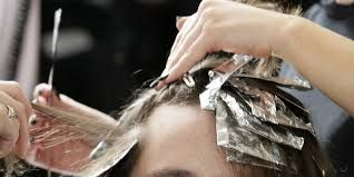 Image result for hair colouring  at the salon