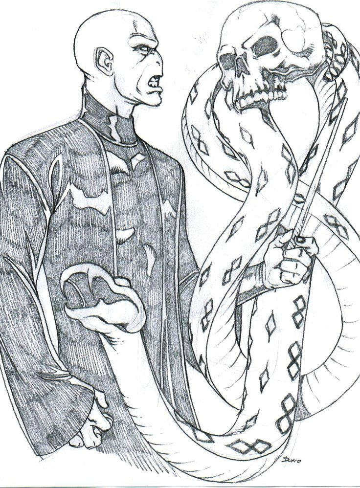 voldemort coloring pages - photo#20