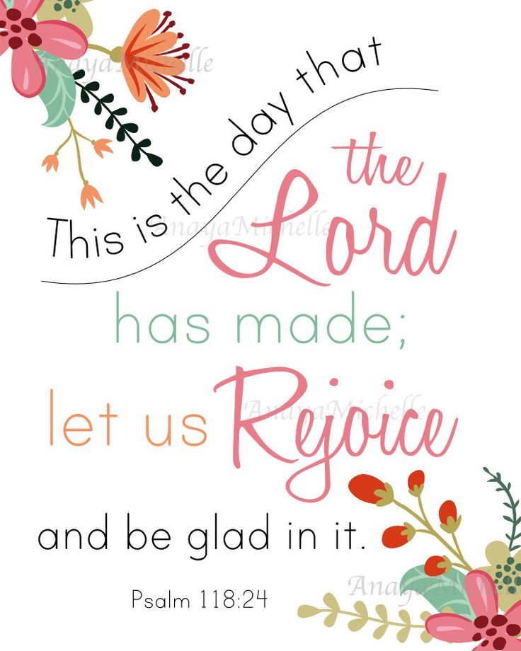 SALE Psalm 118:24 This is the Day that the by AnayaMichelleDecor