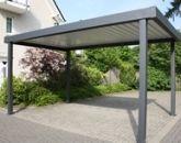 Steel Carport | Amoy-Ironart Fence | Wrought Iron Fences, Ornamental Driveway Gates