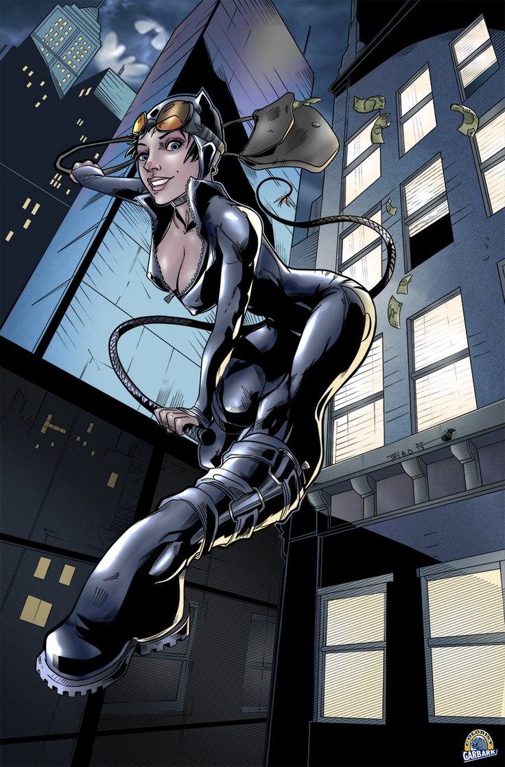 Harpokrates Catwoman - colored by Doug Garbark by ~DougGarbark