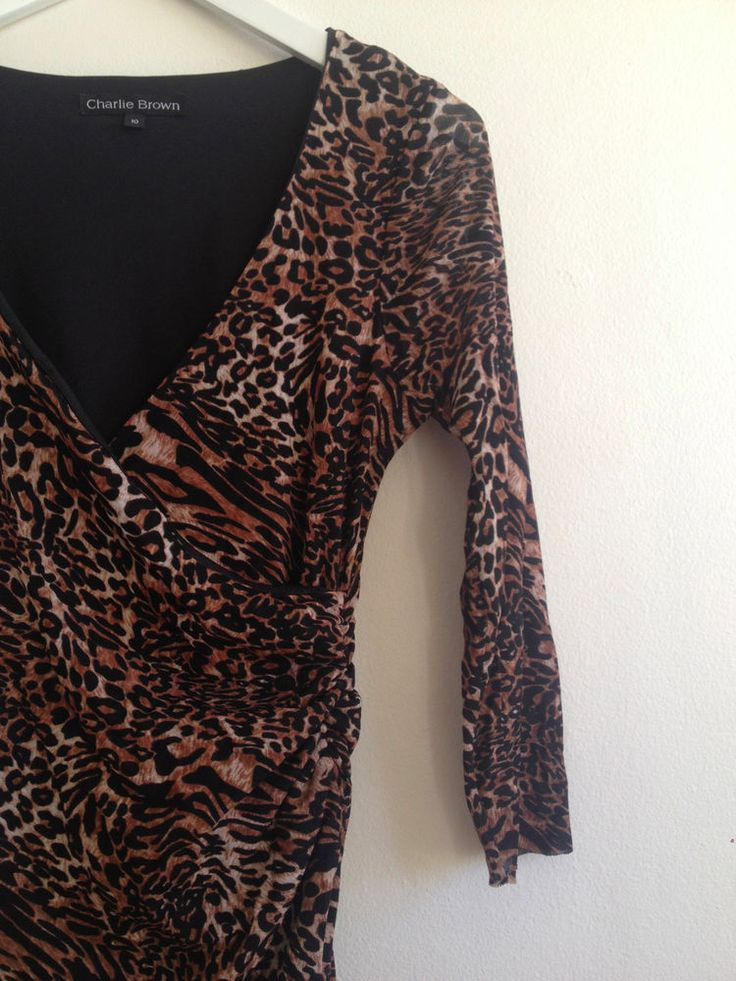 Ladies Charlie Brown Leopard Print Dress, Size 10 - Now selling! Click through to go to eBay auction.