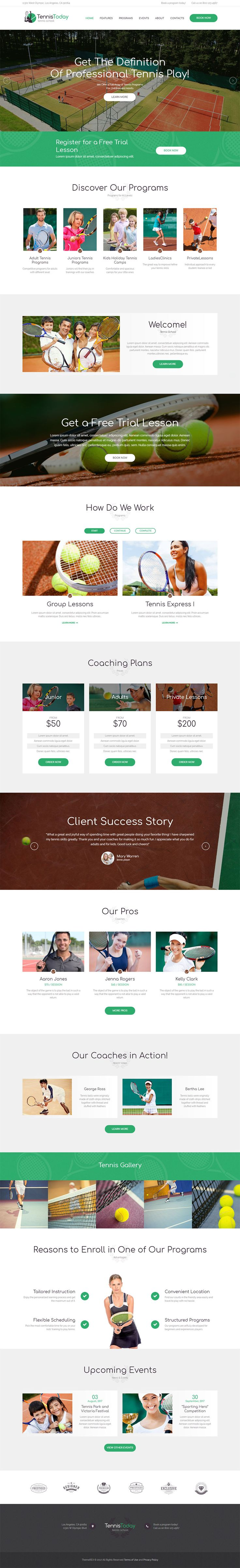 Sport School & Events Wordpress Theme