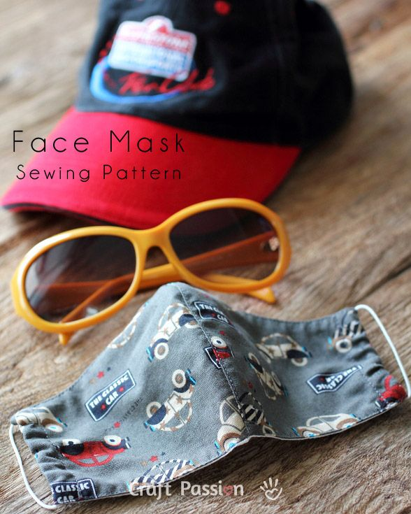 Face Mask Sewing Pattern - a lot of people in European countries and Asia use this, not so much in the U.S.