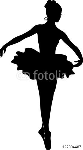 """Download the royalty-free vector """"Ballerina Silhouette"""" designed by Ganna Smushko at the lowest price on Fotolia.com. Browse our cheap image bank online to find the perfect stock vector for your marketing projects!"""