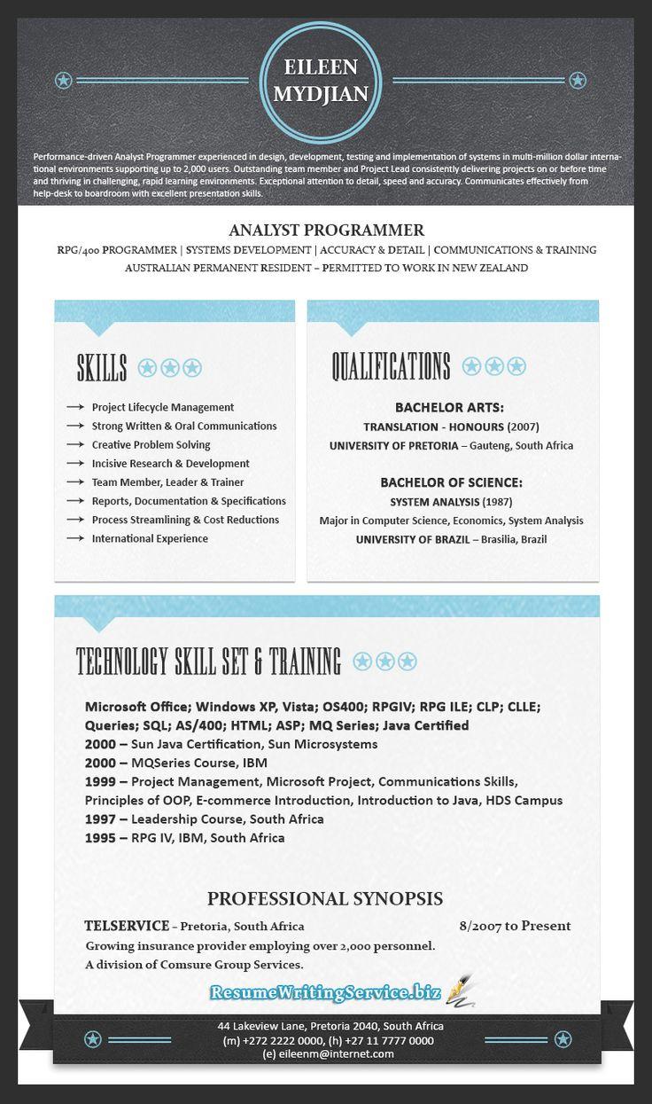 12 Best Resumes Images On Pinterest Resume Ideas Resume